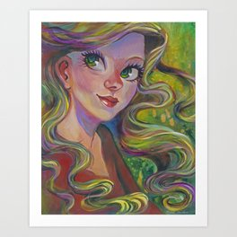 The Girl Who Dreamed Art Print