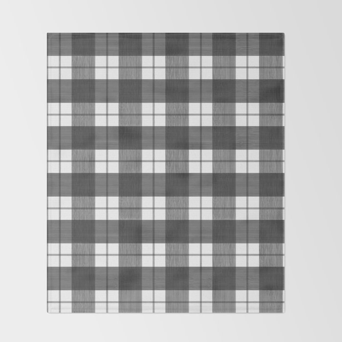 Black And White Plaid Blanket.Black And White Buffalo Plaid Throw Blanket By Danikaherrick
