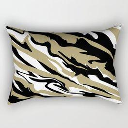 Golden Zebra Rectangular Pillow