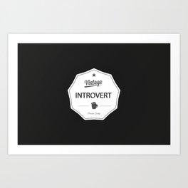 Vintage Introvert Art Print