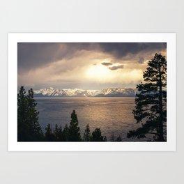 Changing Seasons at Lake Tahoe Art Print