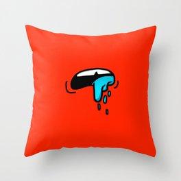 SLOBBER Throw Pillow