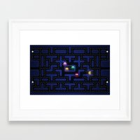 pacman Framed Art Prints featuring Pacman by Foxxya