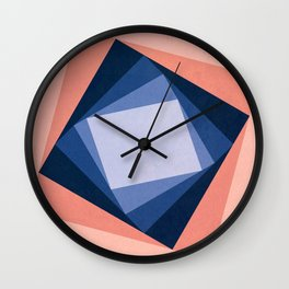 Abstract Square Games Wall Clock