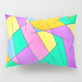 ABSTRACT LINES #1 (Multicolored Vivid) Pillow Sham