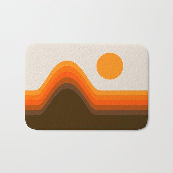 Golden Horizon Diptych - Left Side Bath Mat
