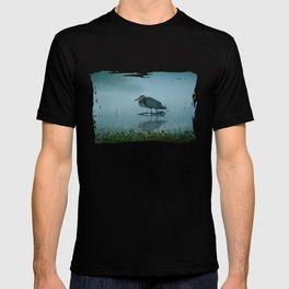 Blue Heron Misty Morning T-shirt