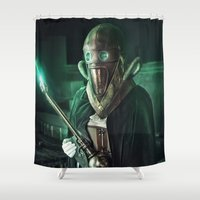 steampunk Shower Curtains featuring Steampunk by Legend Factory