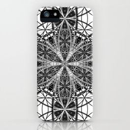 Down That Rabbit Hole - The Sacred Geometry Collection iPhone Case