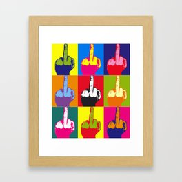 Middle FingersX9 Framed Art Print