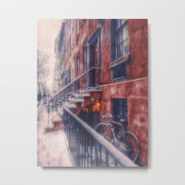First NYC Snowfall of 2017 Metal Print