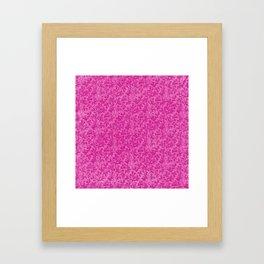 Vintage Floral Lace Leaf Hot Pink Framed Art Print