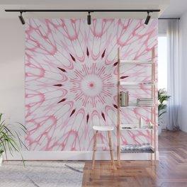 Rose Pink Mandala Explosion Wall Mural