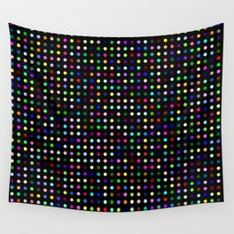 Big Hirst Polka Dot Black Wall Tapestry