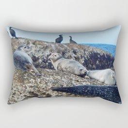 Seal pups, Seals  and Cormorants Rectangular Pillow