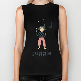 J is for Juggle Biker Tank