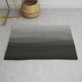 Touching Black Gray White Watercolor Abstract #1 #painting #decor #art #society6 Rug