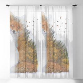 Wild I Shall Stay | Fox Sheer Curtain