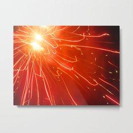 Red Expansion Metal Print