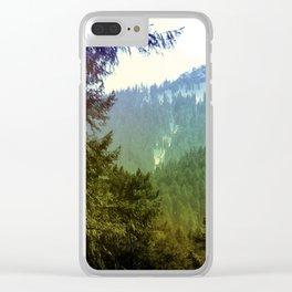 Bluegreen Mountain, Oregon Clear iPhone Case