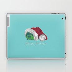 Happy Holiday Hedgehog Laptop & iPad Skin