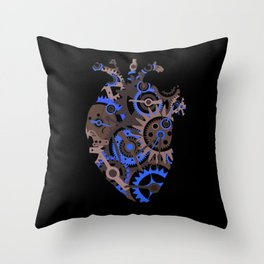 Steampunk Heart Throw Pillow
