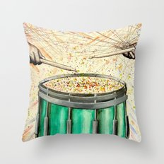 Snare Drum Watercolor Throw Pillow