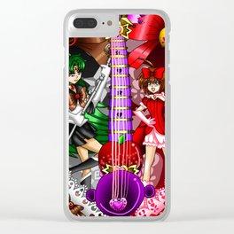 Sailor Mew Guitar #70 - Sailor Pluto & Mew Ringo Clear iPhone Case