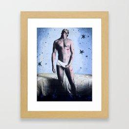 Self Portrait as Saint Sebastian Framed Art Print