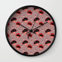 Coral Vintage Wall Clock