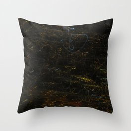 Scribbly Lights Throw Pillow