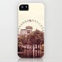 Whitehall & the London Eye from St James's Park iPhone Case