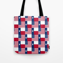 Mix of flag : Usa and Texas Tote Bag