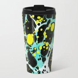 Space Blue Marbling Travel Mug