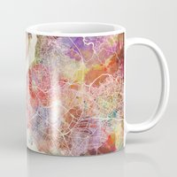 istanbul Mugs featuring Istanbul by MapMapMaps.Watercolors