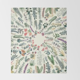 focus garden Throw Blanket