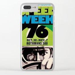 Speed week 76 Clear iPhone Case