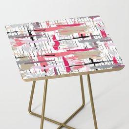 Pink Brushstroke Side Table