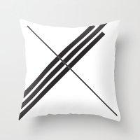 depeche mode Throw Pillows featuring Mode by Alexander Studios