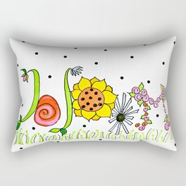 Mary's Bloom Rectangular Pillow