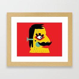 Frankenstache Framed Art Print