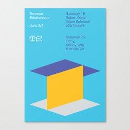 Terrasse Electronique - June 2/2 Canvas Print
