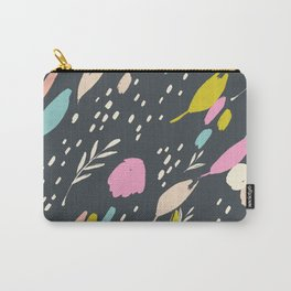 Paint doodle: abstract bright colour pops on black Carry-All Pouch