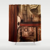 moby dick Shower Curtains featuring Moby Dick by Leon T. Arrieta