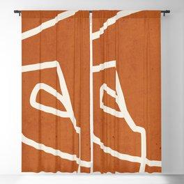 abstract minimal 57 Terracota Blackout Curtain