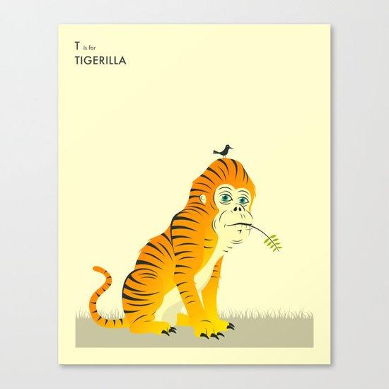 T is for TIGERILLA Canvas Print