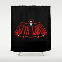 sith Shower Curtains featuring Sith Lord by Buby87