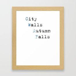 City Walls Autumn Falls Baby Onsie Framed Art Print