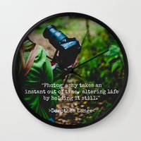 photographer Wall Clocks featuring Photographer by Jo Bekah Photography