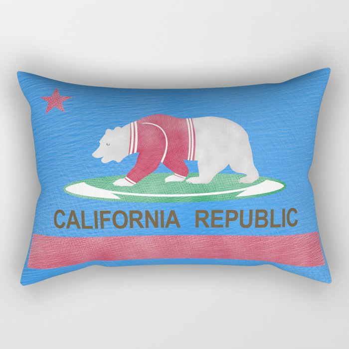 Polar Bear In California Rectangular Pillow